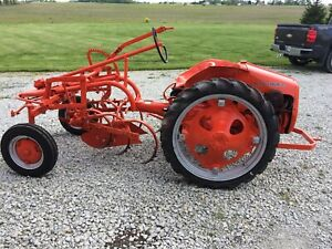 Restored 1949 Allis Chalmers G Tractor W Cultivator Plow