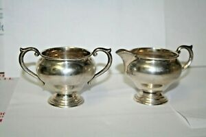 Antique Newport Sterling Silver Cream Pitcher 16321 And Sugar Bowl 16321 Set