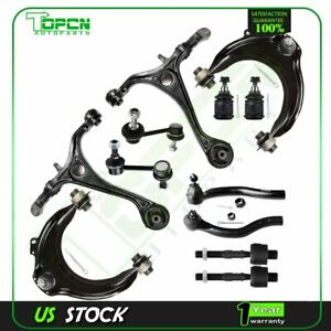 12x Front Control Arms Ball Joints Sway Bars Tie Rods For Acura Tsx Honda Accord