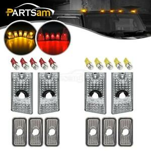 10x Clear Cab Marker Roof Top Light 10x5050 T10 Led Bulb For 2003 2009 Hummer H2