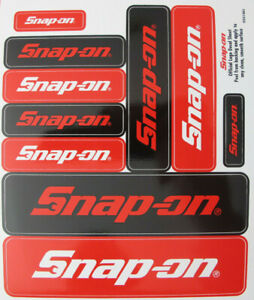 Genuine Snap On Tools Logo Decal Sticker Sheet With 10 Various Size Stickers