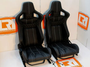 Lri Leather 2 Stage Heated Front Corbeau High Base Seats Fit Land Rover Defender