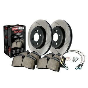 Stoptech Disc Brake Pad And Rotor Kit Front For 1997 2001 Acura Integra