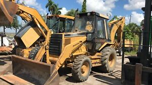 1996 Caterpillar 416b Enclosed Cab 4x4 Backhoe Loader