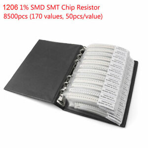 Resistor Sample Book Assortment 170 Values Electronic Diy Portable Kit Smt Chip