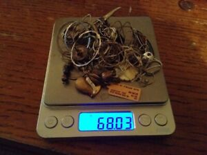 Lot Of 68 Grams 925 Sterling Silver Jewelry Good And Scrap