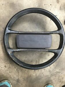 Porsche 944 Steering Wheel W pad Cover Brown Leather