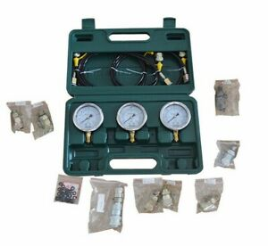 Hydraulic Pressure Test Kit With 12 Couplings 3 Meters Test Tools For Excavator