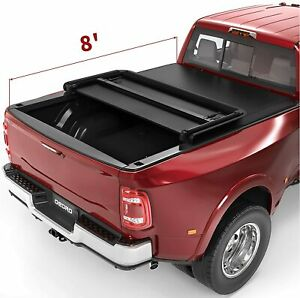 Oedro Soft Tri fold Tonneau Cover Fit For 2002 2019 Dodge Ram 1500 Truck Bed 8ft
