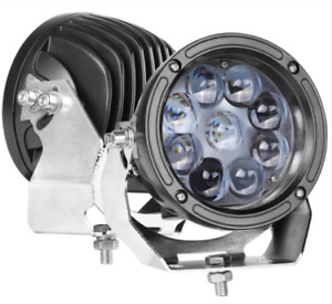 6 Round Led Driving Lights Cree Spot Headlight Leam For Off Road Atv Jeep Ford