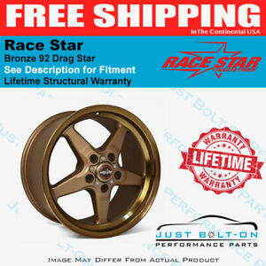Race Star 92 Drag Star Bronze 17x4 5 5x115bc 1 75bs 92 745442bz Challenger Charg