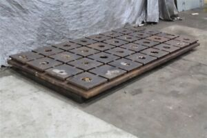 118 X 58 X 4 Cast Iron Cross T slotted Plate Yoder 59444