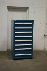 Used Vidmar 8 Drawer Cabinet Industrial Tool Parts Storage 1732 Blue