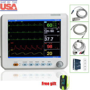 Medical Patient Monitor Patient Monitor Color 6 Parameter Ecg Monitor Gift Usa
