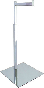 L shaped Single Article Display Stand Counter Top Chrome Finish Csr hb