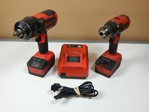 Snap On 1 2 18v Impact Ct88500 And Drill Cdr8815 Two Batteries And Charger