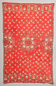 Exquisite Antique India Kutch Shawl Phulkari Paisley Suzani Tapestry Textile