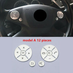 Steering Wheel Buttons Trim For Mercedes Benz Ml Gl Cls Slk Glk E C S R Class