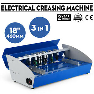 New 18 Electric 3 in 1 Scorer Perforator Paper Creasing Machine Scoring Cr