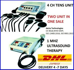 Ultrasound Therapy 1mhz Electrotherapy 4 Ch Therapy Unit Combo Therapy Machine