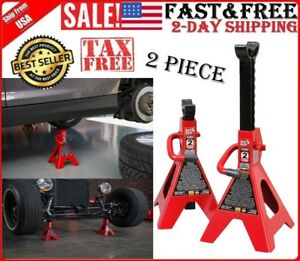Car Lift Jack Stand Heavy Duty Steel Auto Vehicle Support 2 Ton Capacity 1 Pair