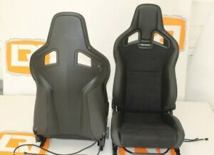 Part Suede leather Heated Recaro Pair Front Seats Fit Land Rover Defender 90 110