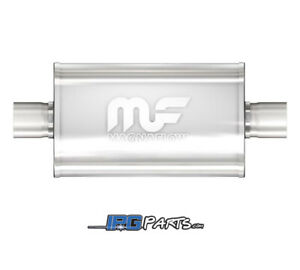 Magnaflow Universal Straight Through Oval Muffler 3 Inlet 3 Outlet