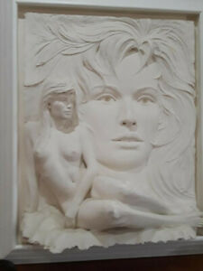 Bill Mack Visions White Sand Wall Art Sculpture -Mint AMAZING!!