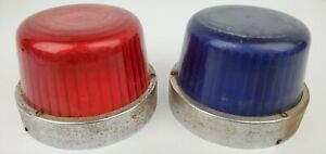 Vintage Ambulance Police Fire Truck Blue Red Emergency Light Housing Lenses
