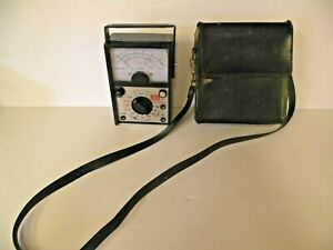 Old Rca Wv 531a Ohms temp Meter Appliance Tester Two Leads Leather Carry Case