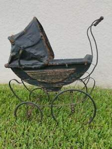 Stroller Buggy Baby Doll 26x14x29 Antique Vintage
