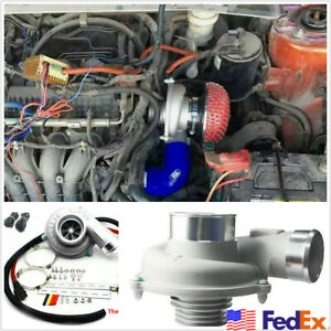 12v Car Electric Turbo Supercharger Turbocharger Air Filter Intake Turbo Charger