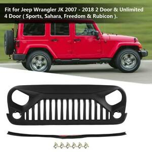 Abs New Grille Grill Guard Cover Protective Cover For Jeep Wrangler Jk 2007 2018