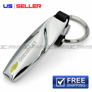 Keychain Key Chain Ring Chrome For Chevrolet Chevy Ee28 Us Seller