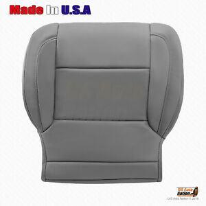 Driver Side Bottom Leather Seat Cover Gray 2015 To 2018 Chevy Tahoe