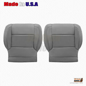 Gray Left Right Bottom Leather Cover 2015 2016 2017 2018 Chevy Suburban tahoe