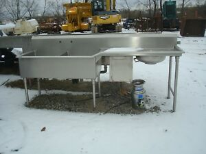 Used Wegcoye Heavy Stainless Steel Commercial Sink Assembly