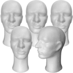 Less Than Perfect Mn 256 ltp 5 Pcs Male Styrofoam Mannequin Head With Long Neck
