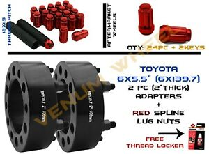 Toyota 4runner 2pc Black Hubcentric Wheel Adapter 2 Thick 106mm I D Lug Nuts