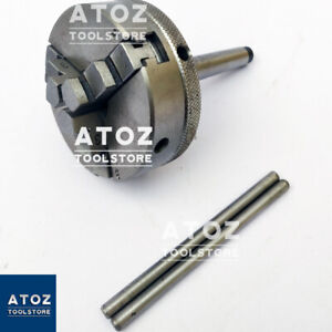Mini Lathe 3 Jaw Self centering Chuck 65mm And Mt2 Mounting Shank Arbour Premium