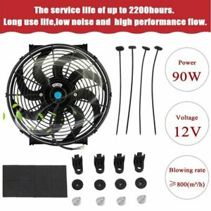 14 Inch Universal Slim Fan Push Pull Electric Radiator Cooling 12v Mount Mx