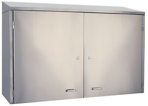 Glastender Stainless Steel Wall mount Cabinet 24 With 2 Doors