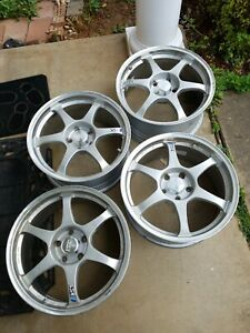 Jdm Ssr Type C 18 Forged 18x8 5 5x114 3 42 X 4 Lighter Than Volk Te37 Wheels