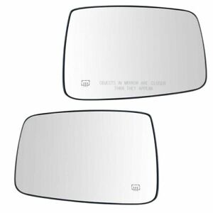 For 2009 2010 2011 2012 Dodge Ram Truck Mirror Glass W Bracket Heated Right Left