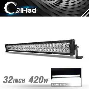 32inch 420w Led Work Light Bars Combo Boat For Jeep Ford Offroad Lamp Pk 32 34