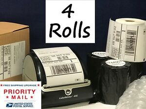 Dymo Shipping Labels 4 Rolls 1744907 Compatible For 4xl Thermal Printer 220 roll
