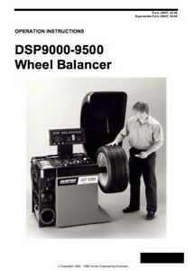 Hunter Dsp9000 Dsp9500 Wheel Balancer Operation Instruction Manual 9000 9500