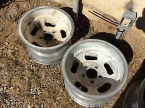 2 Vintage 14x9 Shelby Cal 500 Slot Mag Wheels Chevy 5x4 3 4 Bolt Pattern