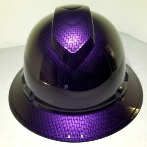 Hard Hat Full Brim Custom Hydro Dipped Osha Mopar Plum Crazy Carbon Fiber