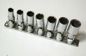 Snap on 7 Piece 3 8 Drive Universal Swivel Deep Socket Set 3 8 To 3 4